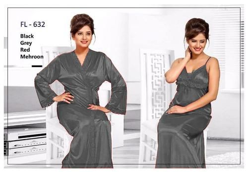 6b436d2cd6 2 Pcs Grey FL-632 - Flourish Exclusive Bridal Nighty Set Collection ...