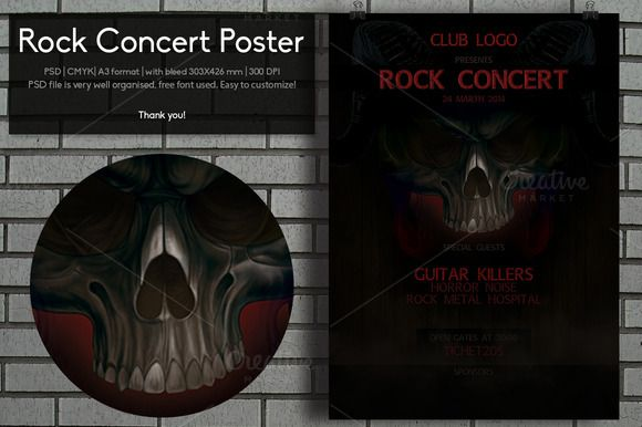 Check out Rock Concert Poster by Distress on Creative Market