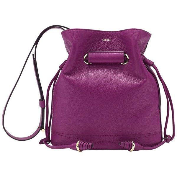 Lancel Cross-body Bag ($685) ❤ liked on Polyvore featuring bags, handbags, shoulder bags, purple, chain handle purses, cowhide purse, long strap purse, handbag purse and chain handle handbags