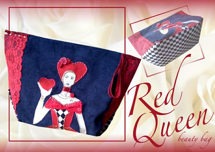 Alice in wonderland beauty bag / red queen