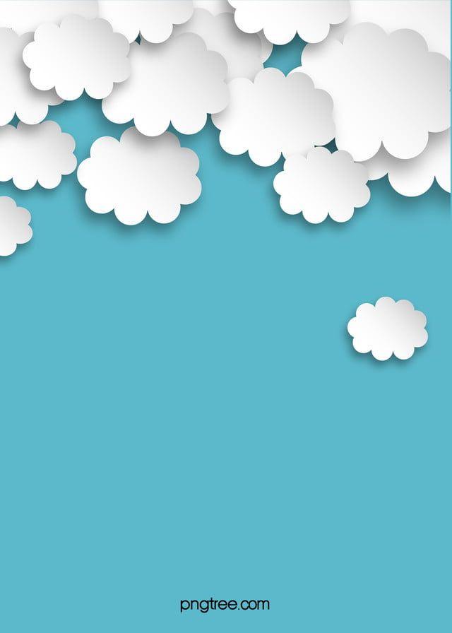 Cartoon Origami Clouds Blue Background Blue Background Images Cartoon Clouds Blue Backgrounds