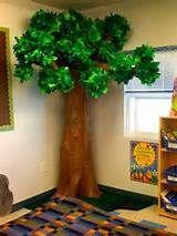 Great outdoors tree classroom display.