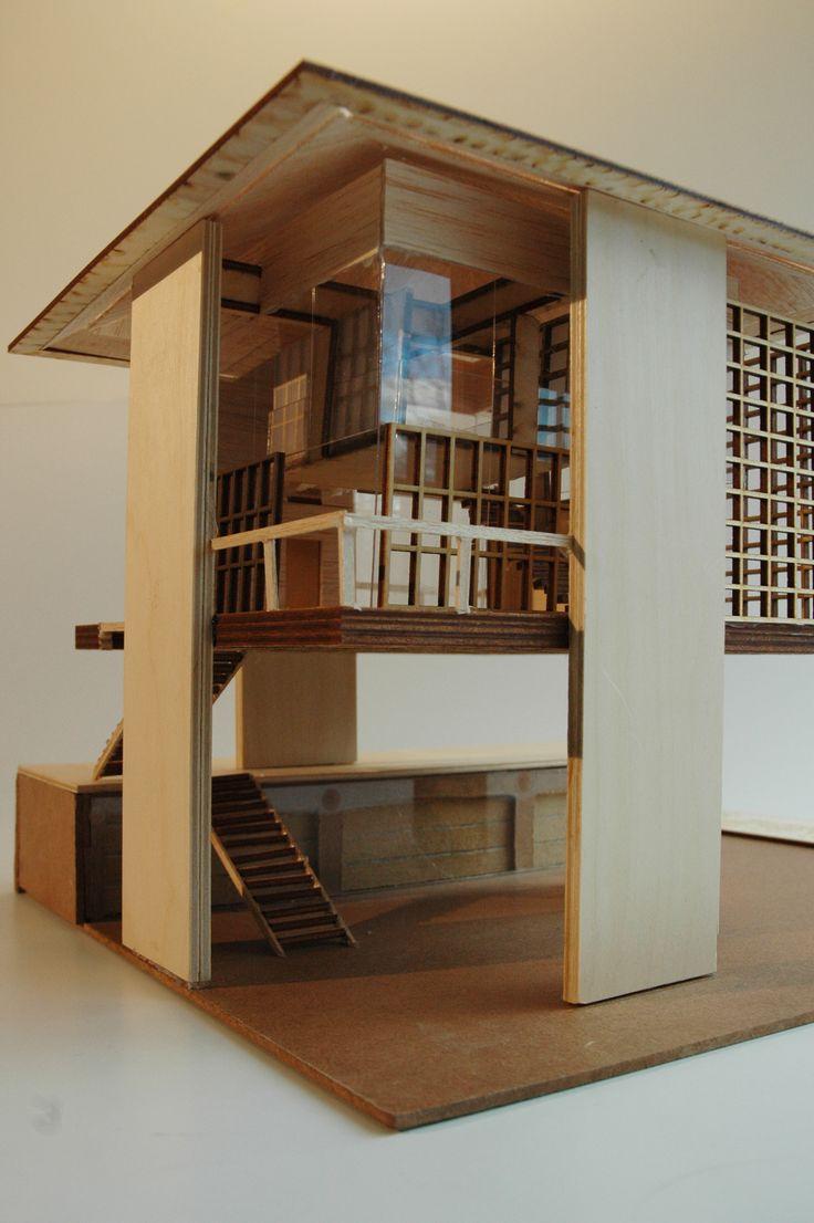 Maquette Sky House avec extension