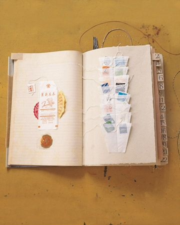Some of the most creative scrapbooks spring from a passion or hobby. This culinary chronicle savors all things food-related. Anything that recalls the aroma of a favorite shop or restaurant has a place.
