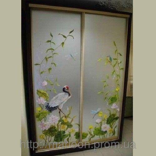 Шкаф купе художественная роспись зеркал