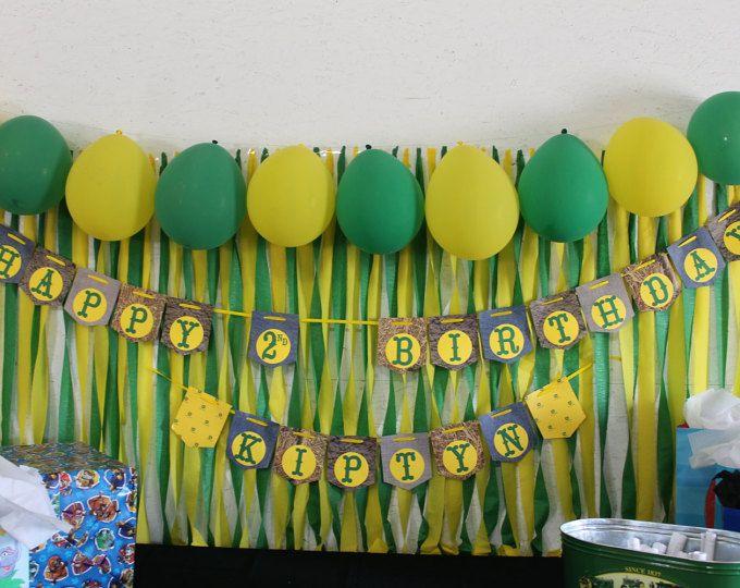 Banner de cumpleaños de John Deere