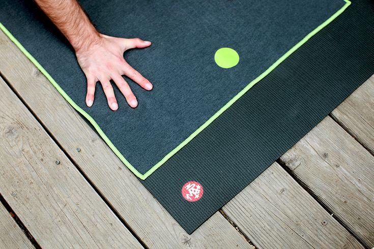 Manduka Black Mat PRO with yogitoes Thunder Mat Towel.