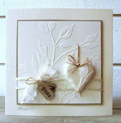 valentine heart #white emboss cards
