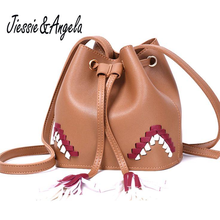 Jiessie & Angela New Women Bucket Bag  Ladies Shoulder Handbag with Tassel  Casual Crossbody Bag For Women PurseSac a Main //Price: $48.38 & FREE Shipping //     #hashtag3
