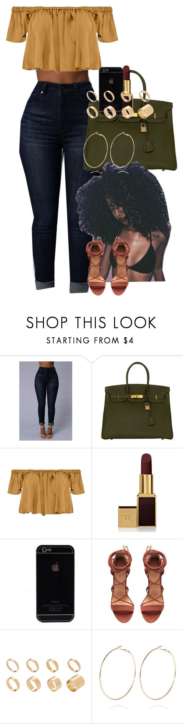"""""""BlackGirlMagic"""" by muvaaliyah ❤ liked on Polyvore featuring Hermès, Boohoo, Tom Ford, ASOS and River Island"""