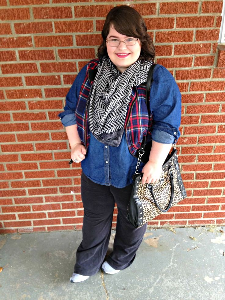 Unique Geek: Plus Size OOTD: Mixing Prints AGAIN #plussizefashionblogger #plussize #plussizeoutfit #mixingprints #plaid #leopard #modestfashion #modestoutfit #falloutfit: