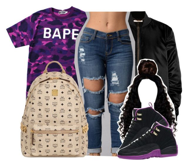 """🍇"" by theylovinniaaa ❤ liked on Polyvore featuring A BATHING APE, Givenchy and MCM"