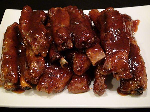 Smack Yo Mama Finger Lickin Grand Marnier Bar-B-Que Pork Ribs