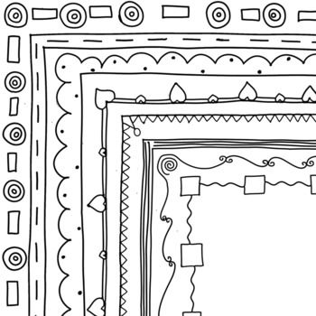 Use these simple borders to 'jazz' up any worksheets or products you are creating.Includes 8 different simple hand-drawn borders. Each style comes with a white and clear background. That's 16 borders in total.Please download the preview and ask any questions before purchasing.Visit my blog Classroom Chit Chat for more teaching ideas and freebies!All content can be downloaded and printed for your own personal classroom use.