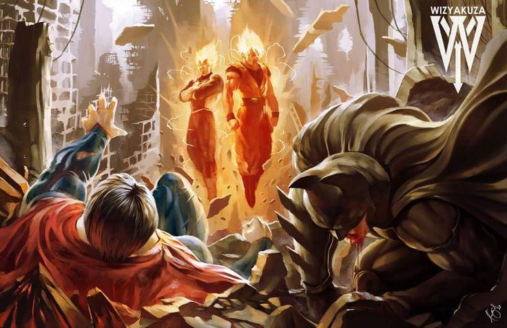 Batman / Superman vs Goku / Vegeta by Ceasar Ian Muyuela ...