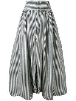 полосатые брюки-шаровары