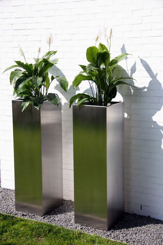 Cima collection - Macetero: stainless steel #design #gardenplanters.