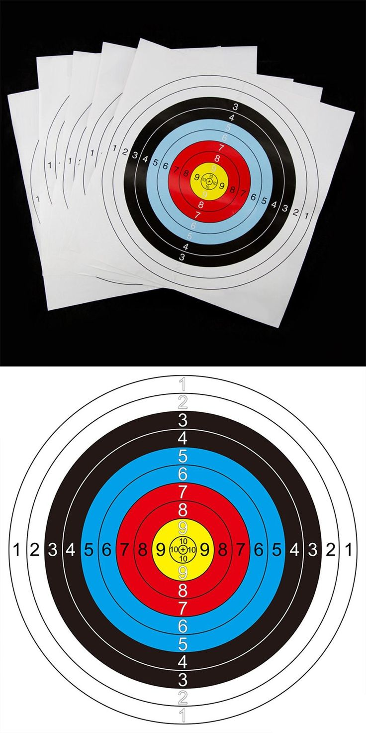 Fofar 41cm * 41cm universal Shooting target paper Archery Target paper Suitable for Bows and Crossbows