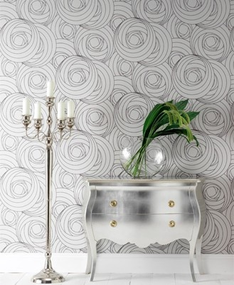 Glossy silver furniture - ALMOST as good as mirrored furniture!