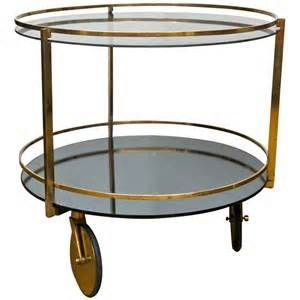 "T3 - Vintage Rolling Side Table @ Dressing Room SIZE= 24""D x 24""H"