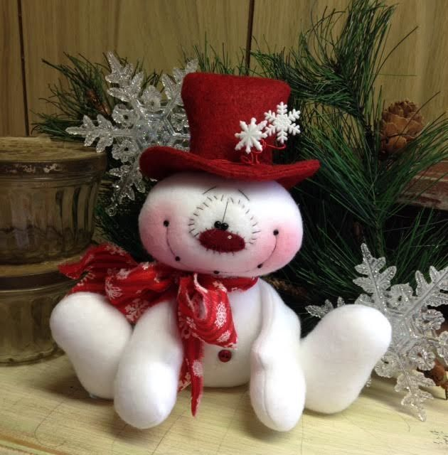 "Primitive HC Holiday Christmas Doll Snowman Snow Snowflake 7"" Super Cute! #IsntThatCute #Christmas"