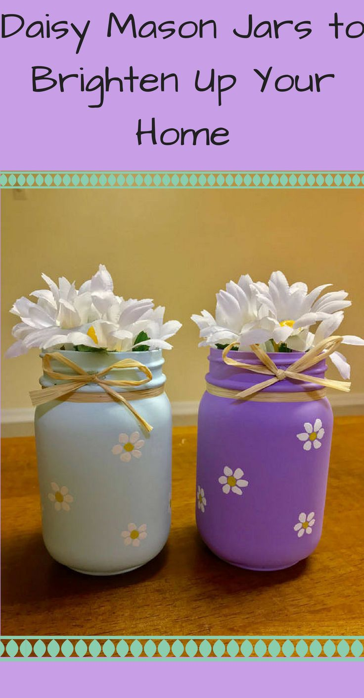Daisies brighten any room, my favorite flower | daisies | home decor | mason jars | #homedecor #daisies #masonjars #daisymasonjar #springdecor #homedecor #Easter