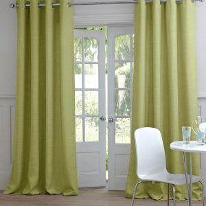 White And Green Bedroom Curtains