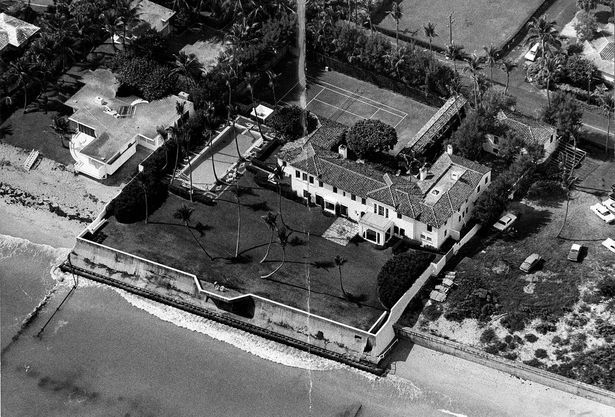 An Aerial View Of The Kennedy Compound In Palm Beach Fl