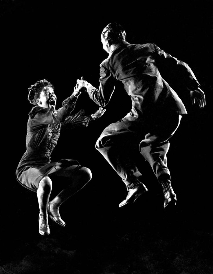 Dancers Willa Mae Ricker abd Leon James dance the Lindy Hop in this photo published in LIFE on August 23, 1943.