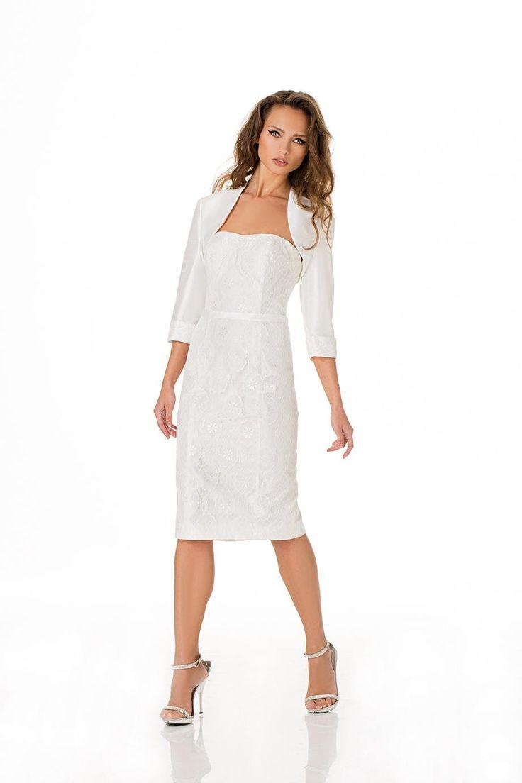 robe de mariée sous le genou avec boléro