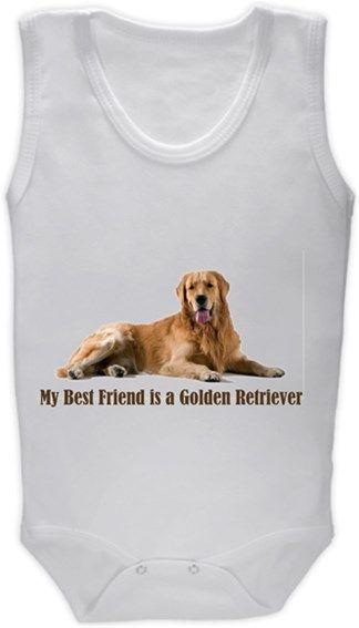 Köpekli - My Best Friend is a Golden Retriever Kendin Tasarla - Bebek Zıbın