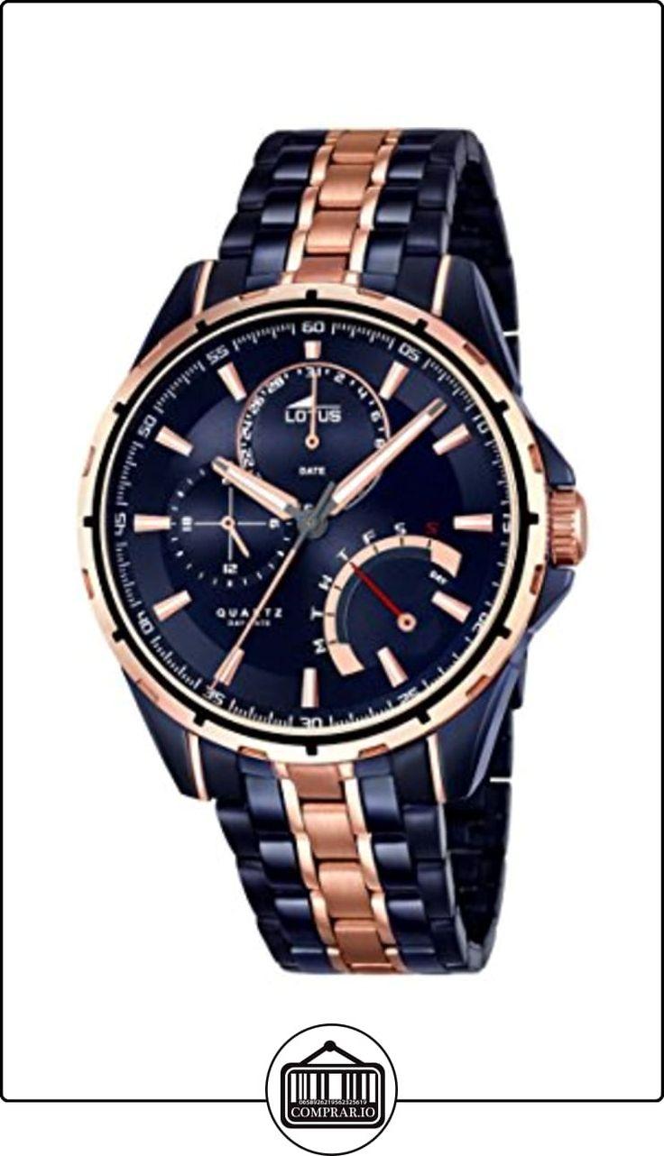 Lotus 18205/1 - Reloj de pulsera hombre, Acero inoxidable, color Bicolor de  ✿ Relojes para hombre - (Gama media/alta) ✿