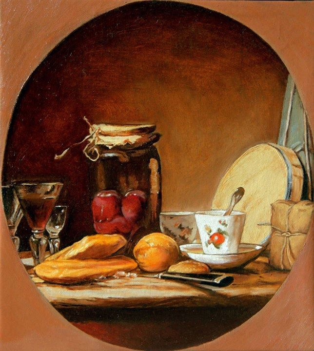 """Still-life"", oil on canvas, 21X23cm, , painted by Marcin Truszkowski"