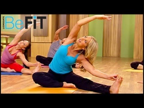 My favorite Youtube workouts -- this yoga video is a lot more relaxing than Jillian Michaels Yoga, and several stretches are the same as Bikram Yoga (without the heat!): Hot Body Yoga Workout | Yoga Fit- Denise Austin