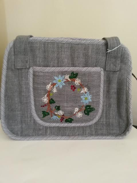 I used upholstery fabric for this bag. it worked extraordinarily well.