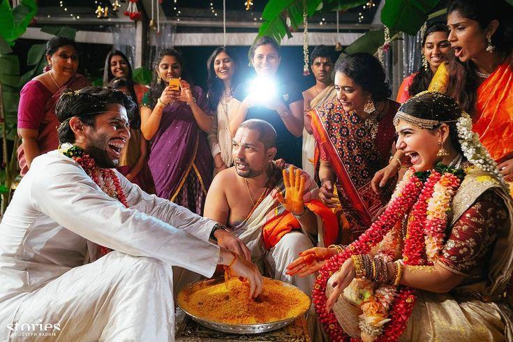 Naga Chaitanya tied a knot to  Samantha Ruth prabhu in Goa. #Nagachaitanya #nagchai #chai #celebritycouple #weddingcelebrations #goa #destinationwedding #samantha #nagarjuna #akhil