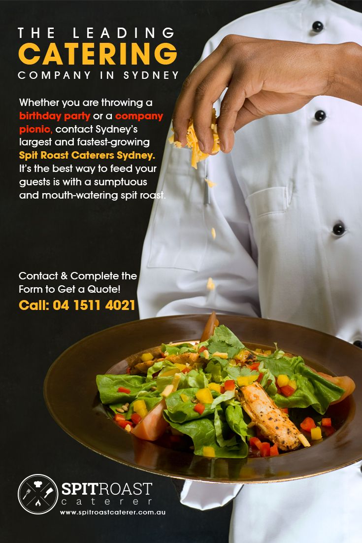 Spit Roast Caterers Sydney - The Leading Catering Company in Sydney.  Whether you are throwing a birthday party or a company picnic, contact Sydney's largest and fastest-growing Spit Roast Caterers Sydney. It's the best way to feed your guests is with a sumptuous and mouth-watering spit roast. Contact & Complete the Form to Get a Quote! https://www.spitroastcaterer.com.au/  #SpitRoastCaterer #CateringCompanySydney #SpitRoastCatererSydney