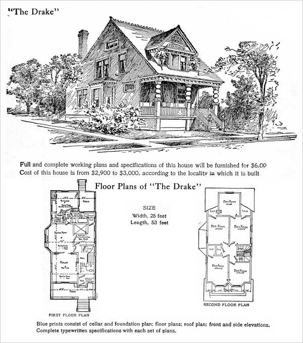 139 best images about floor plans classic on pinterest for Queen anne cottage house plans