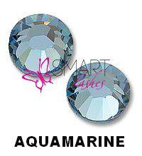 Kamienky na 3d mihalnice - Aquamarine - SS5 - 50 ks