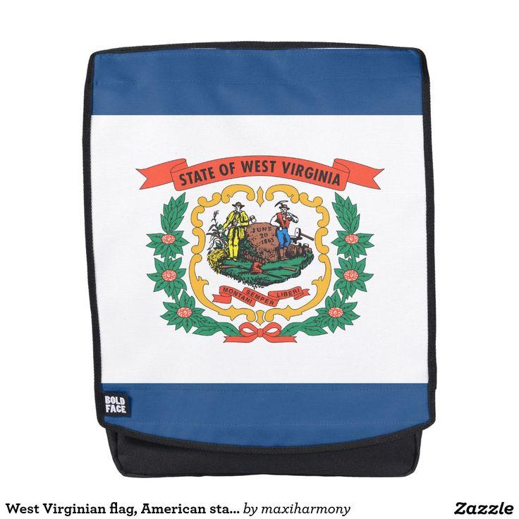 West Virginian flag, American state flag Backpack