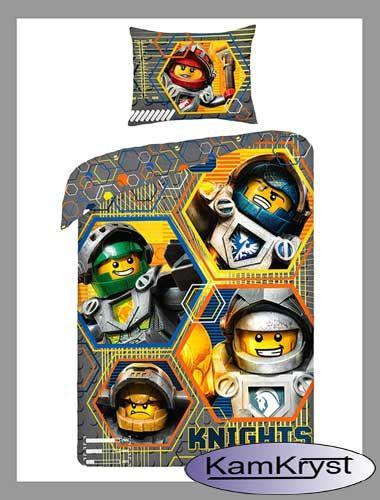 Lego Nexo Knights pościel w rozmiarze 140x200 cm wykonana ze 100% bawełny - produkt licencyjny Halantex #lego
