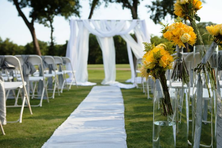 Outdoor Wedding Ceremony At Iron Horse Golf Course Www