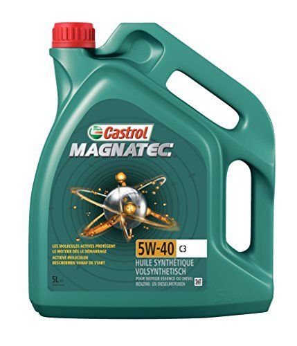 Castrol MAGNATEC Huile Moteur 5W-40 C3 5L: Performances Produit : * 100% synthétique * Se fixe aux surfaces métalliques du moteur pour une…