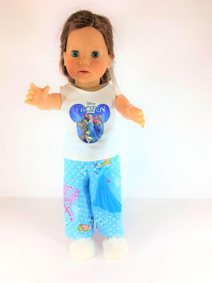 "18"" Frozen Doll 2pc Pajamas"
