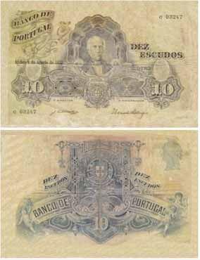10 escudos, 1921