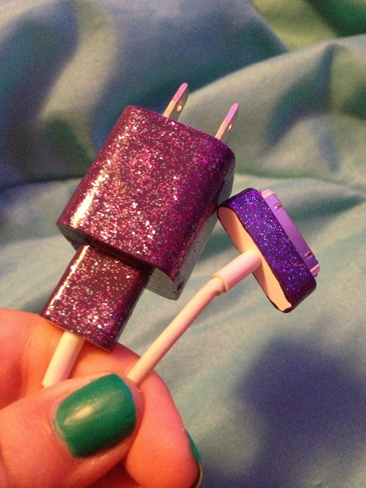 My DIY glitter phone charger