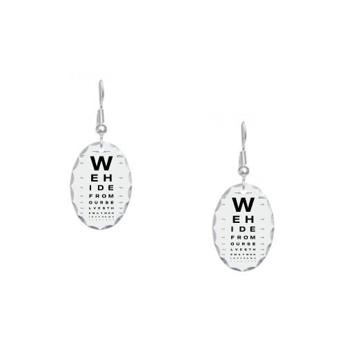Earring Oval Charm Optometrist Opthamologist Eye Chart | $27.97 Artsmith Inc: Opthamologist Eye, Eyes Medical, Eye Accessories, Eye Charts, Eye Fun, Eye Stuff