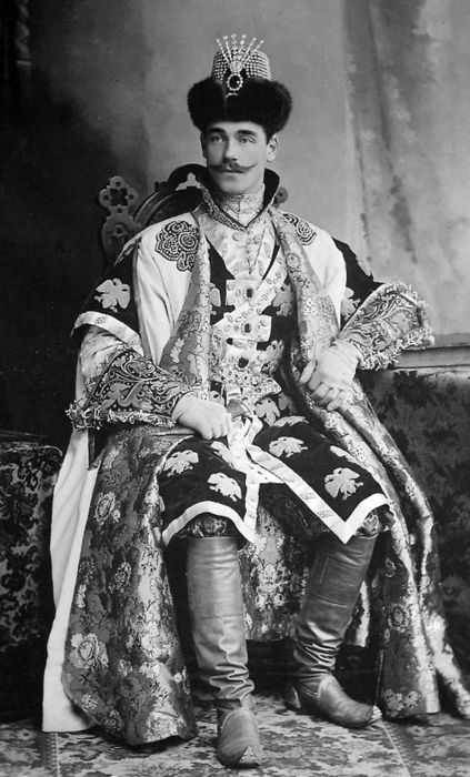 Michael Romanov at the masquerade ball of 1903