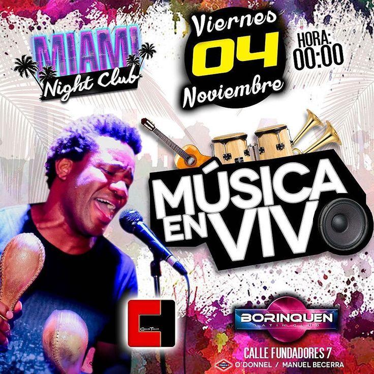 Recuerda ir este viernes en nuestra sesión Miami NIGHT club comenzamos con la música en vivo no sólo será tambor tendremos la orquesta en vivo tocando Merengue Bachata Salsa hora loca y si hay oportunidad tambores Venezolanos. La cita es este viernes en la sala Borinquen Madrid calle Fundadores 7. Será único en la ciudad de Madrid la mejor música latina en vivo en una sala grande. #venezolanosenmadrid  #latinosemmadrid  #reguetonenmadrid #venezuela #colombia  #venezuelaespaña  #salsamadrid…
