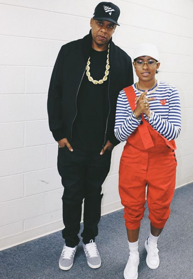 Jay Z in the adidas Campus & DeJ Loaf in Alexander McQueen sneakers